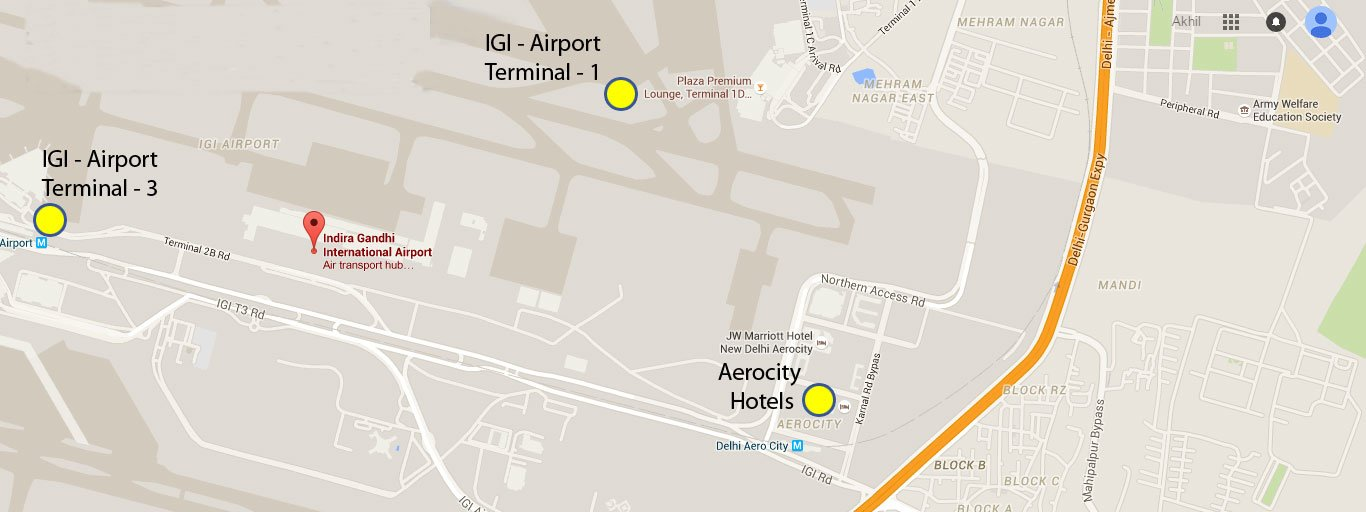 Hotels Near Igi Airport